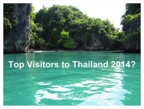 Top visitors to Thailand 2014?