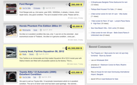 yellow background example, Featured ads