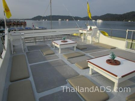 Sundeck with Benches,Tables,Chairs and Cushions