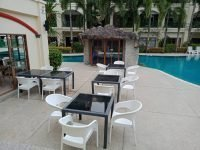 outdoor and poolbar areas